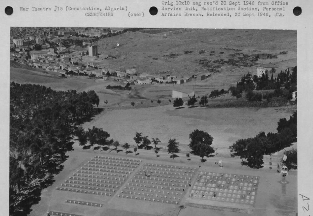 Cemetery, Constatine, Algeria, WWII