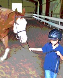 Trevor Loves Horses!